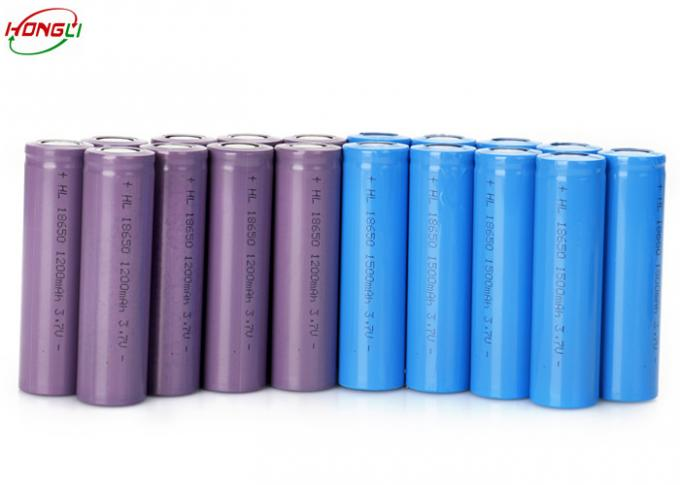 First Class 3.7 1200mah Battery , High Drain 18650 Lithium Battery  Pollution Free