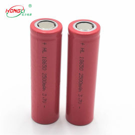 Good Quality 3.7 V Lithium Ion Cell & Red 2500mAh 18650 3.7 V Lithium Ion Cell 500 Cycles / Power Bank Battery Cell on sale