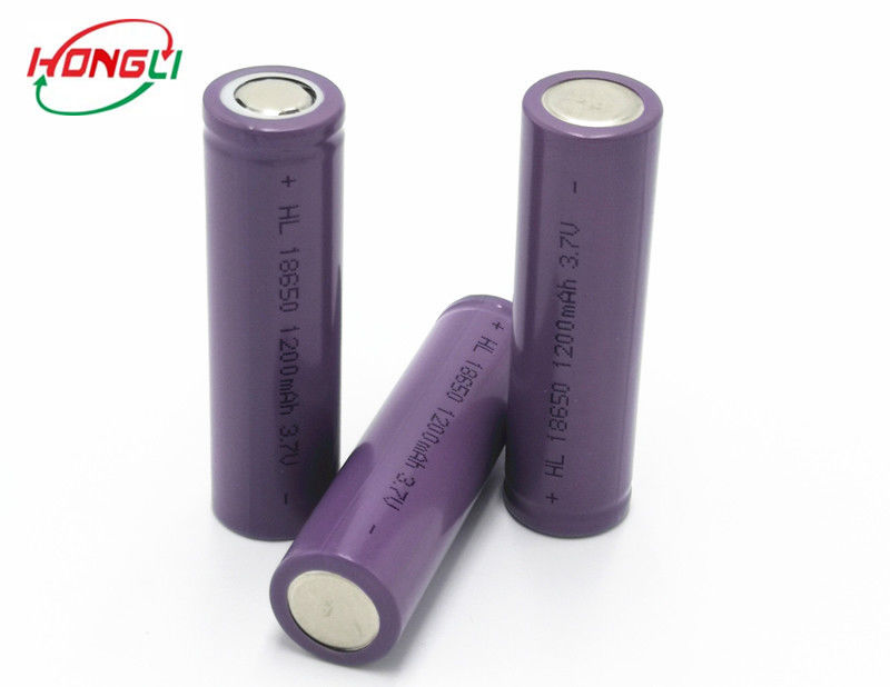 MSDS Certificate 18650 Li Ion Battery 3.7V 1200mAh High Energy Density Long Cycle Life