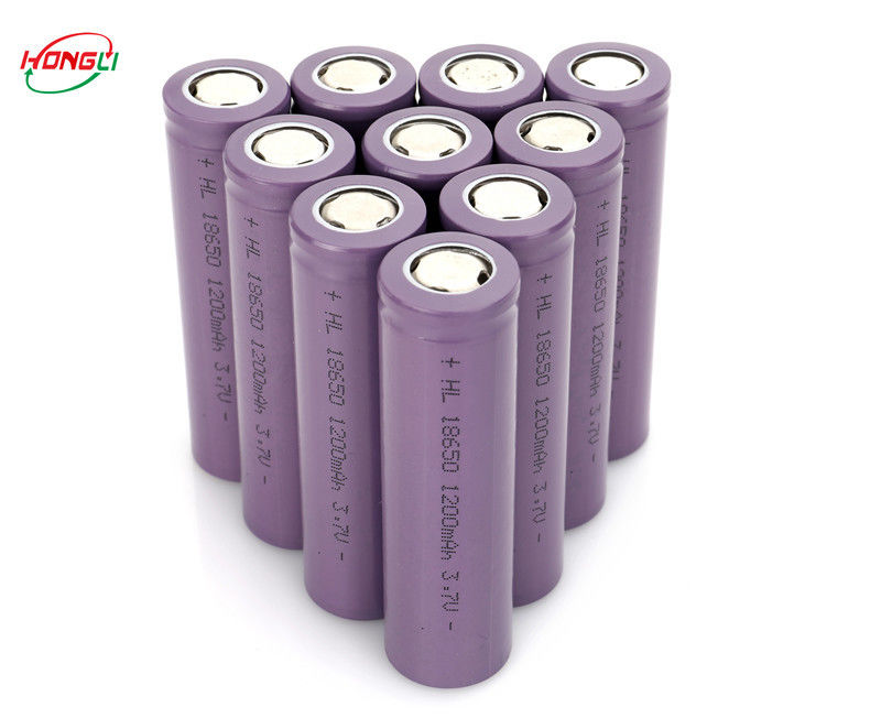 Stable Discharge Voltage Power Bank Battery IMR1200mAh 3.7V 18650 High Performance