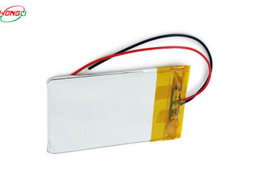 Flat 3.7 V Lipo Battery , Rechargeable Lithium Ion Polymer Battery Pack 3.7 V  Pollution Free
