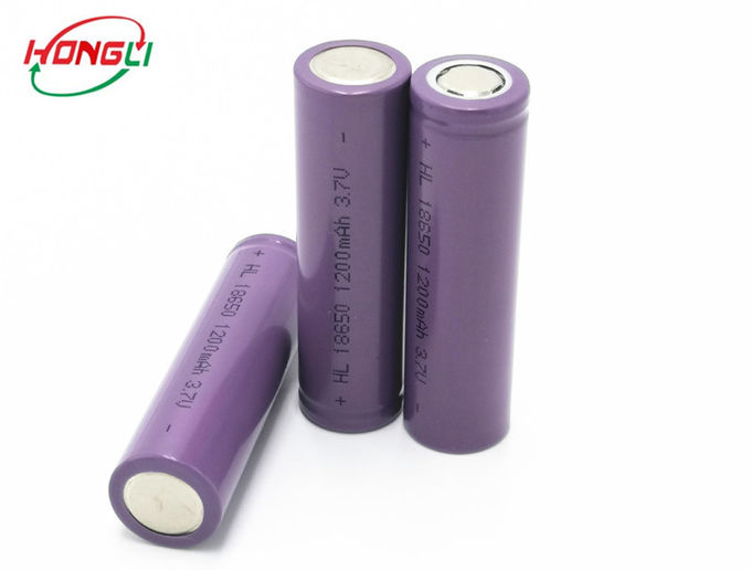 Cylindrical Shape 3.7 V Lithium Ion Cell 0.5C 18650 Rechargeable For Power Bank