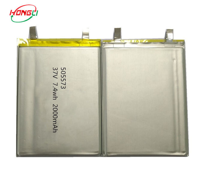 Rechargeable 3.7v Lithium Polymer Battery 2000mAh 505573 ROHS Certifications Approved